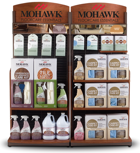 Photo of Mohawk cleaning products display