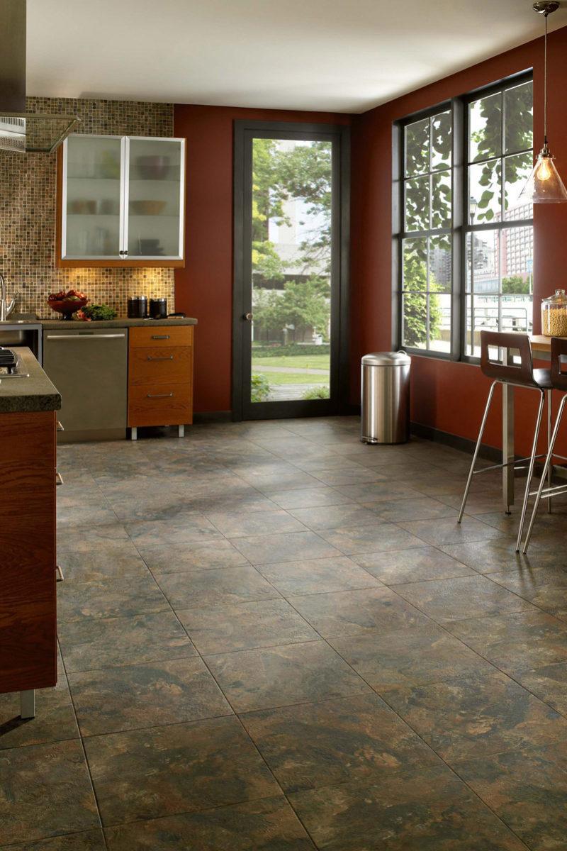 Photo of vinyl flooring