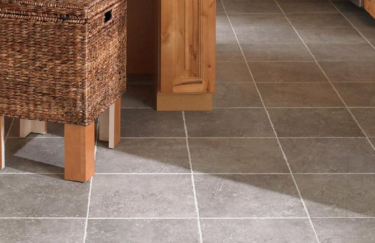 Photo of tile flooring