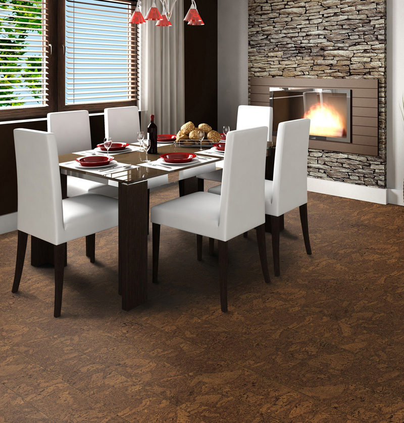 Photo of cork flooring