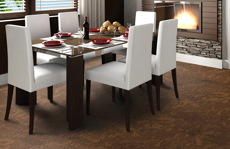 Picture of cork flooring